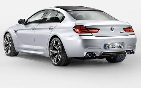 The BMW M6 Gran Coupe uses a carbon fiber roof panel to help minimize weight.