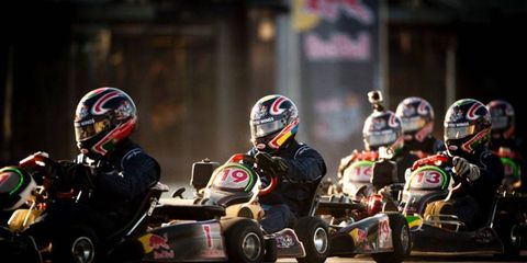 The Red Bull Kart Fight was a highlight of the Bologna Motor Show, which was attended by an estimated 40,000 people on Sunday.