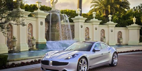 Production of the Fisker Karma plug-in hybrid has stopped due to a shortage of battery packs while supplier A123 Systems is in bankruptcy.