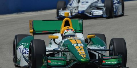 Simona de Silvestro will have to find another kind of engine this season, as Lotus is pulling out of IndyCar.