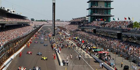 The Indianapolis 500 will be the first leg of the Fuzzy's Triple Crown in the IndyCar Series in 2013. The three-race series will also include Pocono and Fontana.