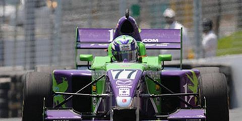 Zach Veach is continuing his climb to the IndyCar series.