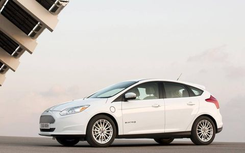 The Ford Focus Electric has a 107-kilowatt electric motor making 143 hp and 184 lb-ft of torque.