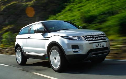 The Range Rover Evoque comes in either a coupe or five-door body style.