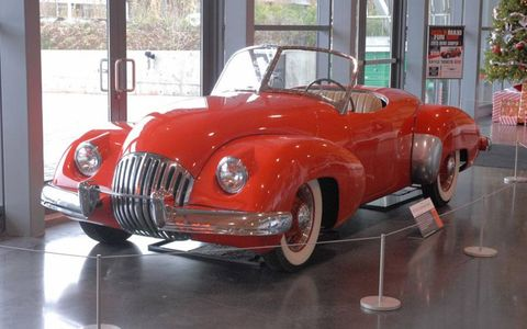 The 1947 Kurtis-Omohundro Comet is hard to miss in the lobby of the Tacoma, Wash. LeMay Museum.