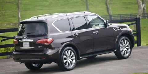 The Infiniti QX56 will be renamed the QX80.