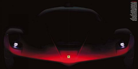 Ferrari's begun the long tease in the run up to the Enzo successor's launch.