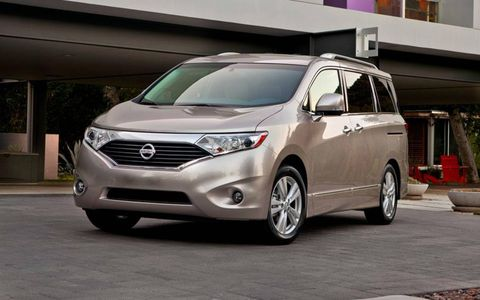 The 2012 Nissan Quest 3.5 LE has unconventional styling, but don't let that distract you from the minivan's capability.