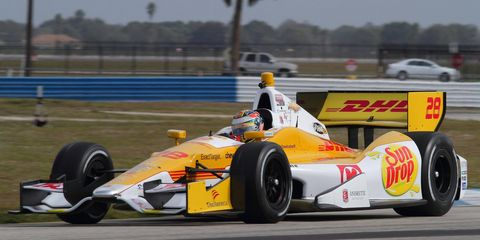 IndyCar Series champion Ryan Hunter-Reay took part in testing on Wednesday before heading to Bangkok for the annual Race of Champions on Saturday.