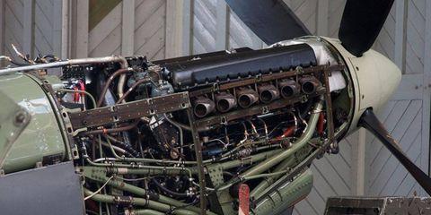Aerospace engineering, Aircraft, Engine, Military aircraft, Automotive engine part, Aerospace manufacturer, Aviation, Iron, Machine, Engineering,