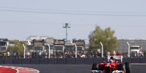 Fernando Alonso takes a turn during the United States Grand Prix. The Circuit of the Americas is receiving $29 million from a Texas trust.