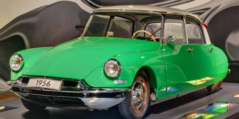 The Citroen DS was introduced in 1955.