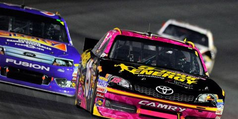 Clint Bowyer (15) is ineligible for the NASCAR Shootout in February. The reason? He didn't win a pole in 2012.
