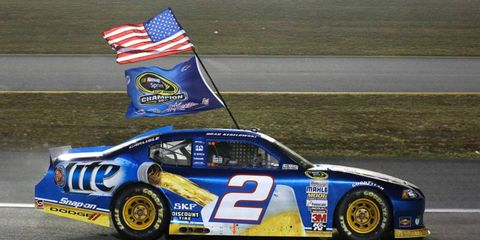 Brad Keselowski clinched the 2012 NASCAR Sprint Cup Series championship at Homestead in November.