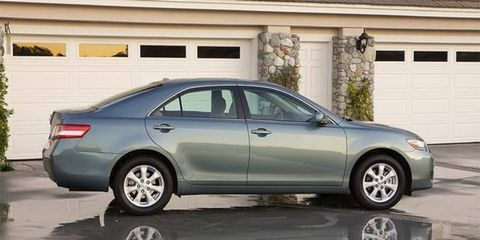 The 2010 Toyota Camry is one of several models recalled to fix an issue with sticking throttle pedals.