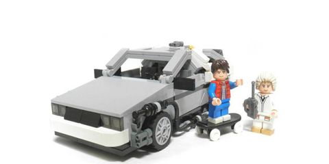 This DeLorean will go 88 mph only if you fling it off a cliff.