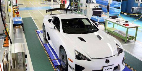 Toyota built the last Lexus LFA sports car on Dec. 14.