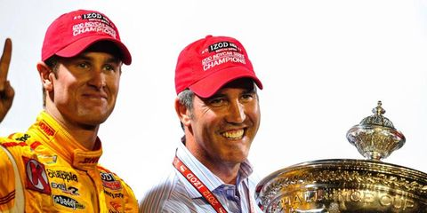 Former IndyCar CEO Randy Bernard, center, has gone a little bit country for his lastest career move.