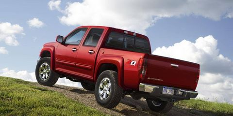 The 2012 Chevy Colorado and GMC Canyon are being recalled for a missing hood latch.