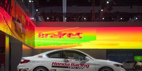 Honda showed off its racing heritage.