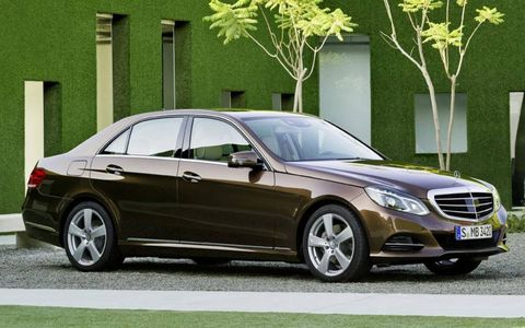 Changes to the 2014 Mercedes-Benz E-class include new headlights and front bumper redesign.