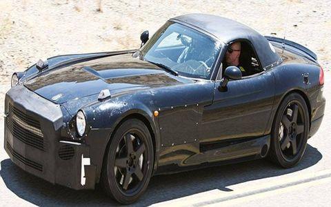 Mercedes-Benz flagship sports car test mule.