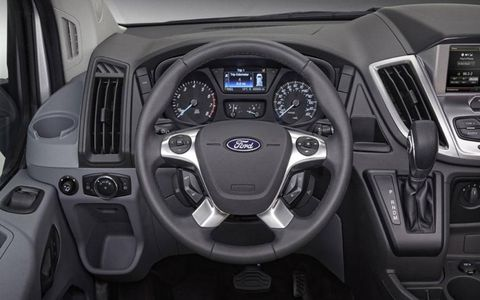 The 2014 Ford Transit interior looks more like the Fords we're used to.