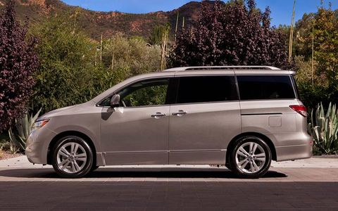 "One editor described the ride of the 2012 Nissan Quest 3.5 LE as ""Infiniti-like,"" citing its quietness on the road."