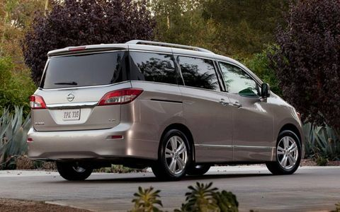 The 2012 Nissan Quest 3.5 LE costs more than most crossovers, but for hauling large families on long trips its straightforward functionality can't be beat.