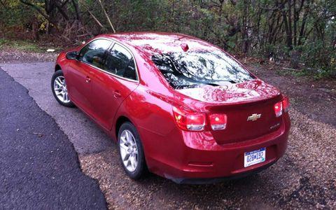 The 2013 Chevy Malibu Eco has barely perceptible regenerative braking