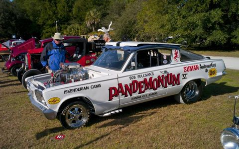 1965 Plymouth Barracuda owned by Gregory Sullivan. A precursor to today's NHRA Funny Cars.