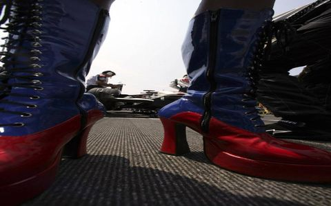 "A special edition of Grid Girls presents ""Girls In Boots""."