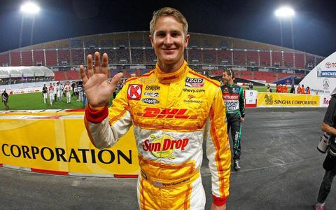 Ryan Hunter-Reay represented IndyCar and the United States in the Race of Champions.