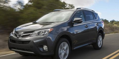 New styling gives the 2013 RAV4 a sharper exterior.