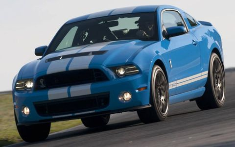 The Ford Mustang was the most-searched vehicle on Autoweek.com in 2012.