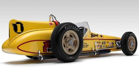 This 1/18-scale model of the 1958 Belond Special is one of two highly detailed miniature Indy Cars offered by Replicarz.