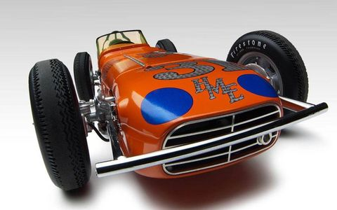 Buddy Marshman drove the Hoover Motor Express to victory at the 1961 Indianapolis 500. Now, the Laydown racer is being offered by Replicarz in 1/18 scale.