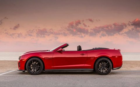 The convertible has all the signature ZL1 body treatments giving it an aggressive look.