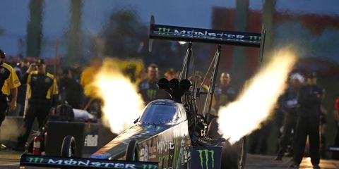 Brittany Force was the top qualifier in Top Fuel competition on Friday in Kansas.