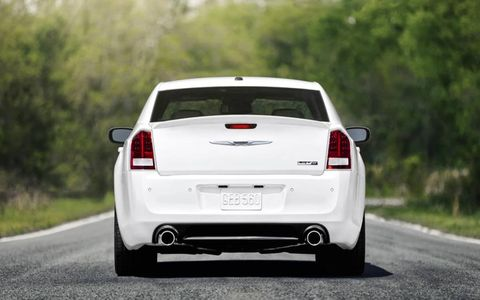 Minor exterior appointments like the badging and exhaust help set the SRT8 apart from a standard 300.
