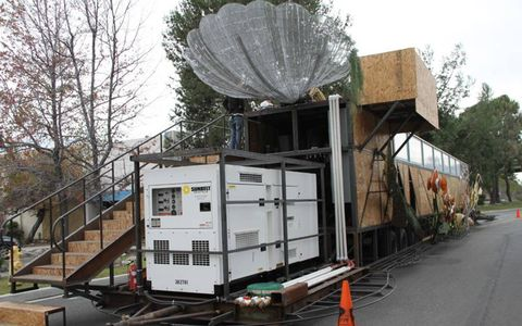 A huge generator sits out back to power the wave machine