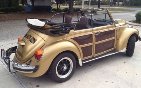 The tricked-out 1974 Volkswagen Beetle convertible isn't exactly cheap -- the seller is asking $23,500.