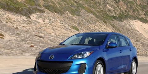 The Mazda3 comes in either a sedan or hatchback body style.