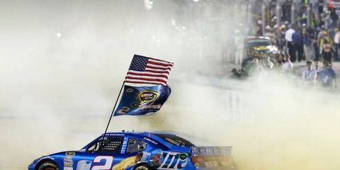Brad Keselowski clinched his first NASCAR Sprint Cup Series title and the first in NASCAR for team owner Roger Penske at Homestead on Nov. 18.