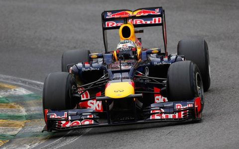 Sebastian Vettel drove Red Bull to a third consecutive Constructors' and Drivers' Championship in Formula One.
