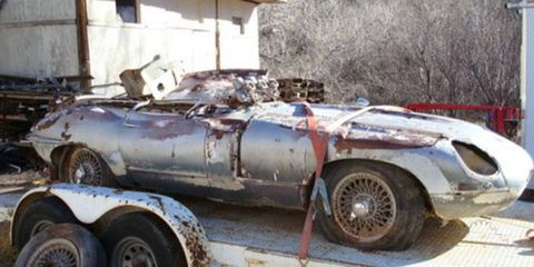 This Series 1 Jaguar E-type coupe could be quite a steal -- provided you're able to pull off some serious restoration work.