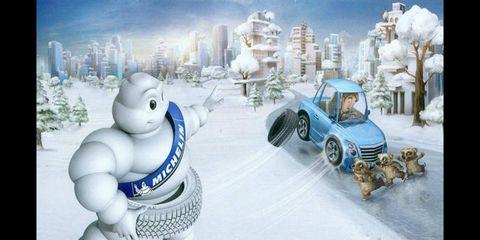 Winter, Automotive tire, Fender, Animation, Snow, Freezing, World, Animated cartoon, Fictional character, Tread,