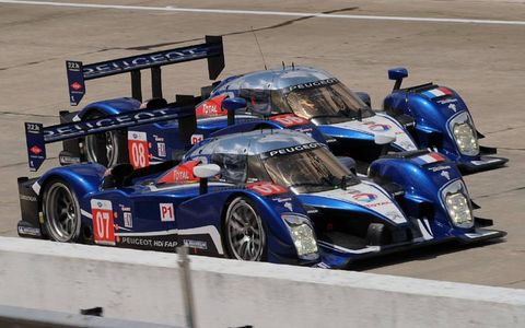 #07 and #08 Team Peugeot Total 908 HDI FAP in Sebring, Fla. on March 20, 2010