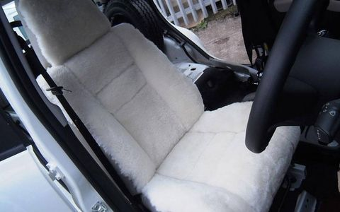 A custom-covered front seat salvaged from a Volvo 340 should make the 10,000-mile ride a bit more comfortable.