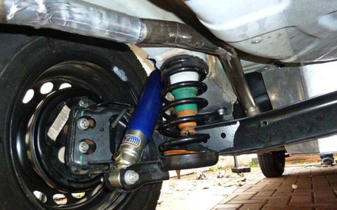 Aftermarket shocks and springs are among the few modifications made to the Fiat Panda ahead of the 10,000-mile trip.